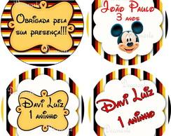R�tulo Latinha Mint To Be 4,5x4,5 Mickey