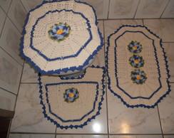 tapete de banheiro flor de natal