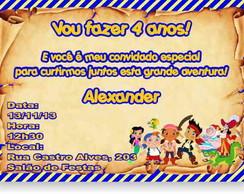 Jake e os piratas Convite Anivers�rio
