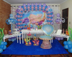 Decora��o clean Barbie Vida de Sereia