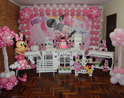 Decora��o Clean/Proven�al Minnie Rosa
