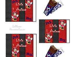 Rotulo Chocolate Bis Minnie