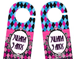 Aviso de Porta Monster High