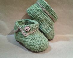 Sapatinho De Croch� Verde