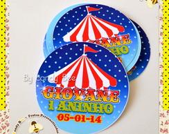 R�tulo Adesivo Circo