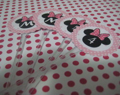 Topper Doces Minnie Rosa