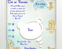 Convite Ch� de Fraldas Its a Boy