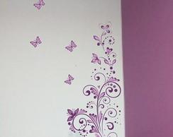 Adesivo floral de parede