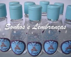 �lcool Gel Personalizado - Azul e marrom