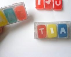 Caixa Com 3 Mini Sabonetes