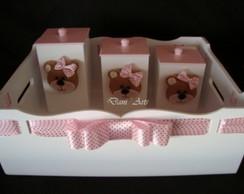 Kit Higiene Ursa rosa e marrom