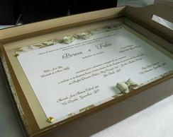 Bandeja convite de casamento