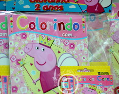 Revista Kit colorir Peppa Pig