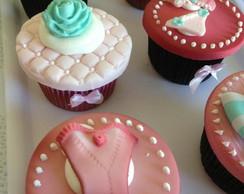Cupcakes personalizados Ch� lingerie