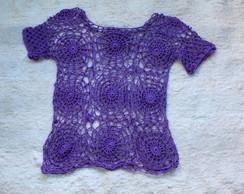 Blusa Croch� Lil�s- Dispon�vel
