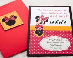 Convite de Anivers�rio Infantil Minnie