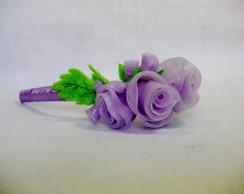 Tiara flor lil�s