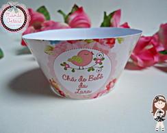 Wrapper para Cupcake Tema Passarinho