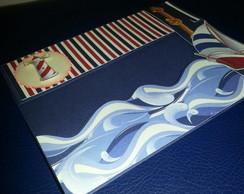 Convite Tema N�utico Marinhei- Scrapbook