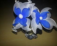 Vaso duplo flor azul