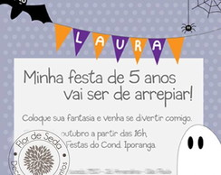 Convite Digital Infantil Halloween