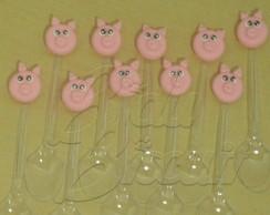 Colher decorada com porquinho