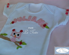 Body Ou Camisa Corujinha (modelo 3)