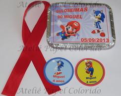 Mini Marmita. Tema: Sonic e Marios Bros