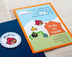 Convite de Anivers�rio Angry Birds