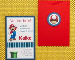 Convite de Anivers�rio Mario Bros