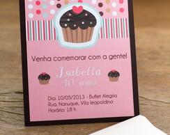 Convite de Anivers�rio Cupcake