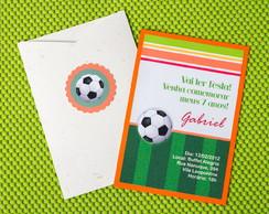 Convite de Anivers�rio Infantil Futebol