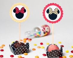 Topper para Doces Minnie