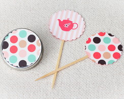 Toppers para Doces Ch� da Tarde