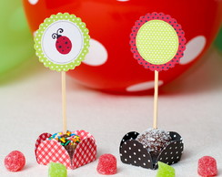 Toppers para Doces Joaninha