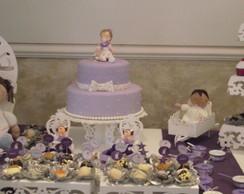 FESTA CLEAN Batizado anjinhos lilas