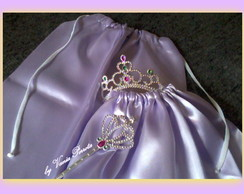 Kit Princesa Rapunzel Com Capa Em Cetim