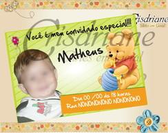 Convite Ursinho Pooh Baby