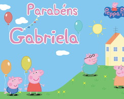 Placa Painel digital Festa Peppa Pig