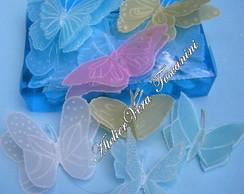 Caixa com 50 borboletas coloridas