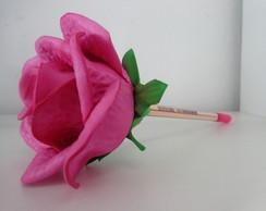 Caneta Decorativa com Rosa