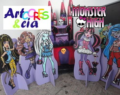 Decora��o para Festa Monster high mdf