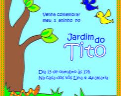 Convite Jardim - Menino