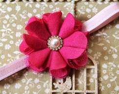 Faixa de Beb� Flor Mariana Pink