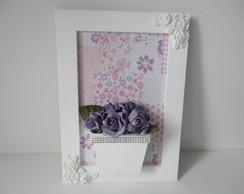 Quadro Flores Lilas-VENDIDO