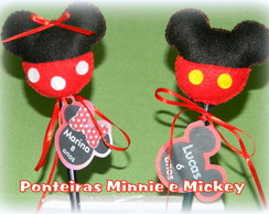 Ponteiras Mickey e Minnie com tag