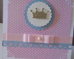 Convite Princesa Rosa com azul
