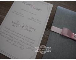 Convite Casamento  - Onix