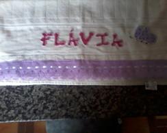 Toalha de banho com patchwork aplique