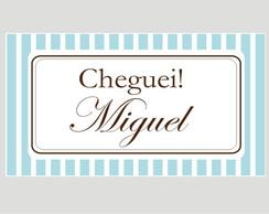 Tag Marrom e Azul - Listrado - Cheguei